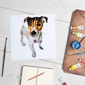Jack Russell Terrier (Mounted Print)