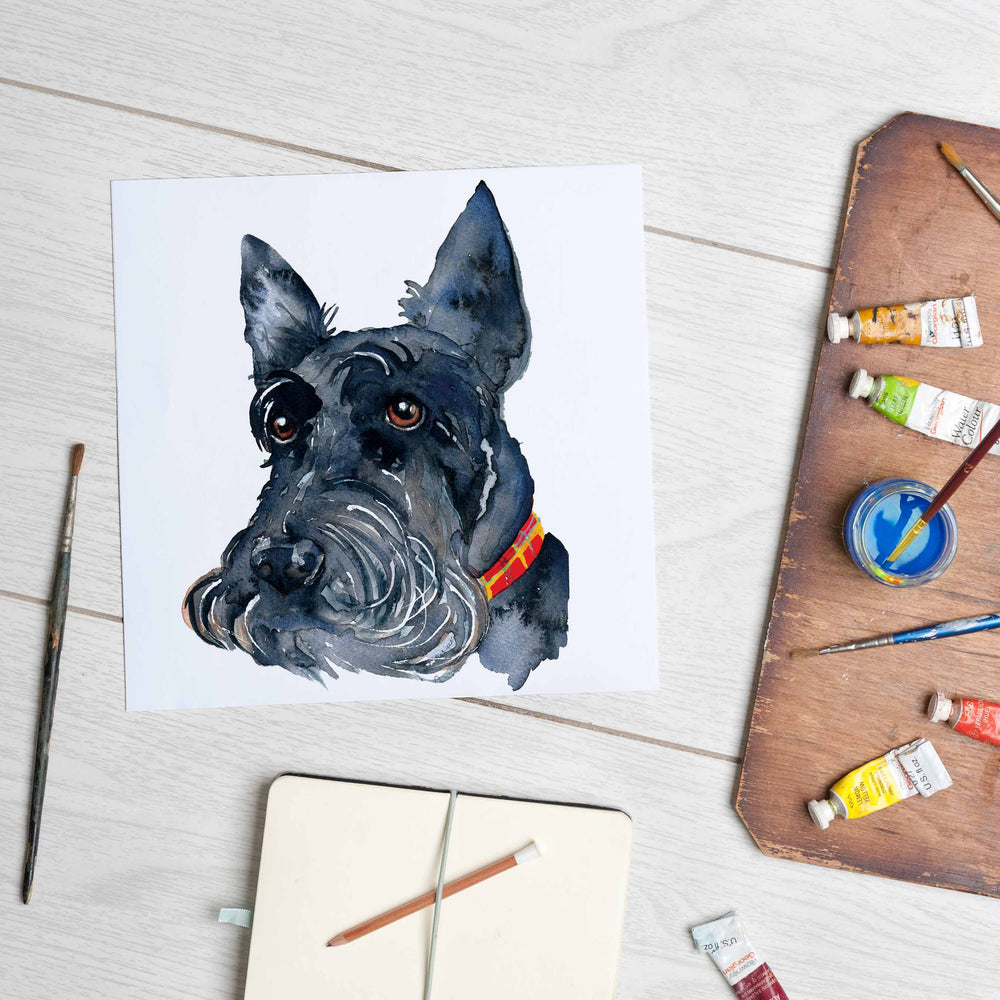 Scottie Dog (Mounted Print)