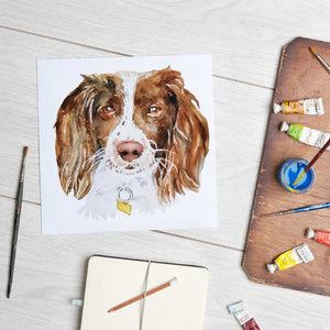 Load image into Gallery viewer, Springer Spaniel (Mounted Print)