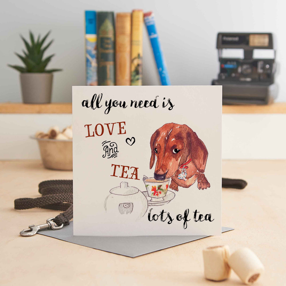 Load image into Gallery viewer, All you need is Love and Tea, lots of Tea - Greeting Card