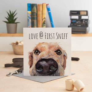 Love at First Sniff - Greeting Card