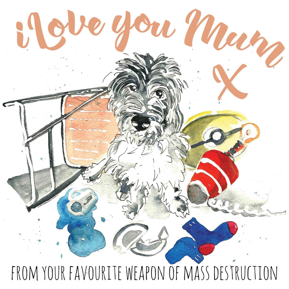 I Love You Mum from your favourite weapon of mass destruction - U78