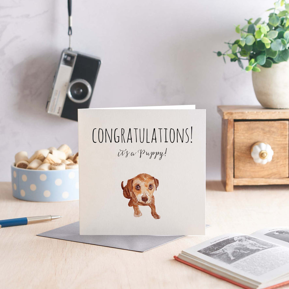 Congratulations it's a Puppy - Greeting Card