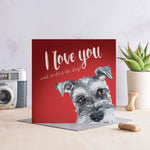 I love you and so does the dog - Schnauzer