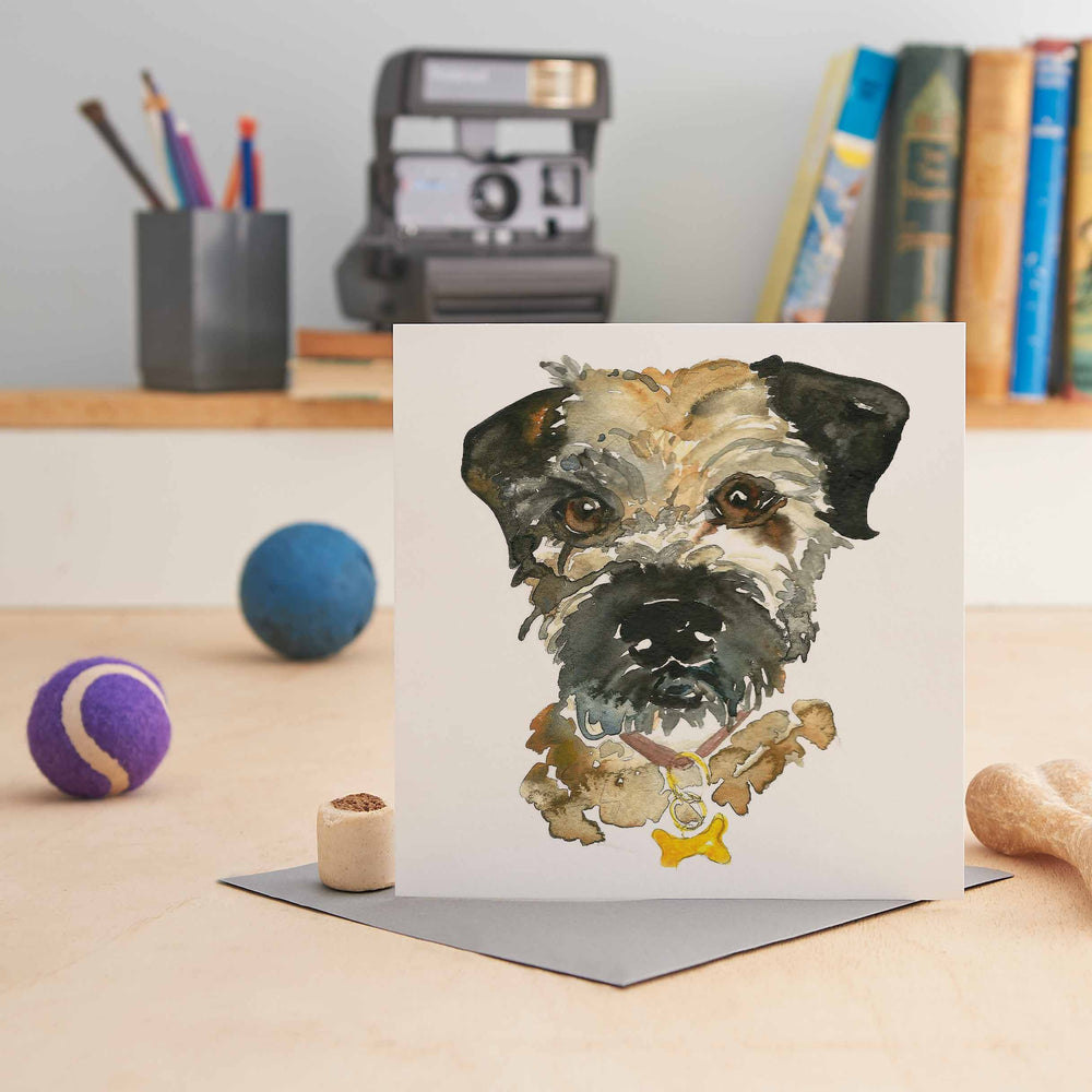 Buster the Border Terrier Greeting Card