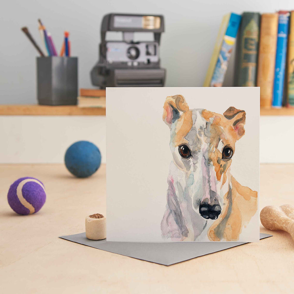Load image into Gallery viewer, Greyhound - Greeting Card
