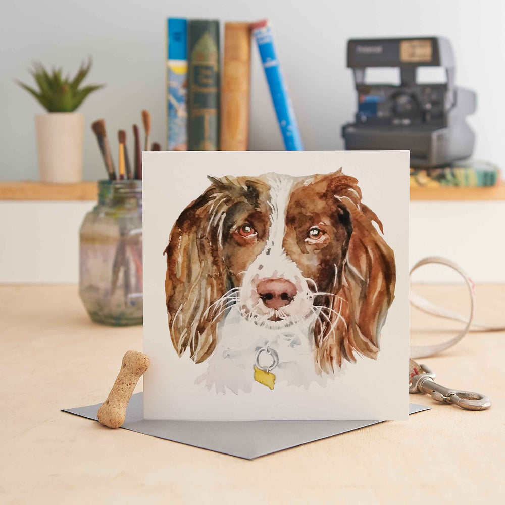 Load image into Gallery viewer, Springer Spaniel Greeting Card