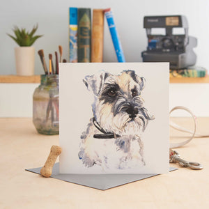 Charlie the Schnauzer - Greeting Card