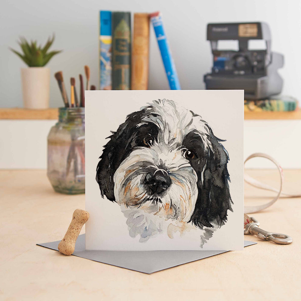 Load image into Gallery viewer, Tibetan Terrier -Greeting Card