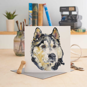 Siberian Husky - Greeting Card