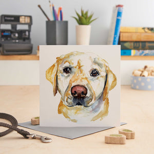 Load image into Gallery viewer, Golden Labrador - Greeting Card