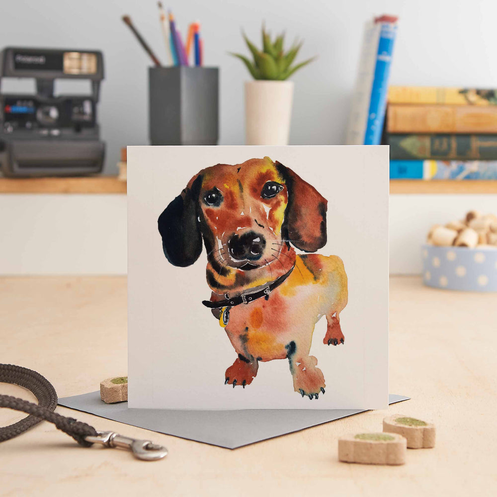 Load image into Gallery viewer, Dachshund- Greeting Card