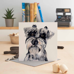 Elaine the Schnauzer Greeting Card