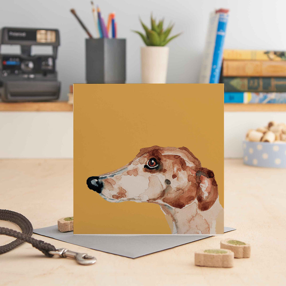 Nigel the Greyhound - Greeting Card
