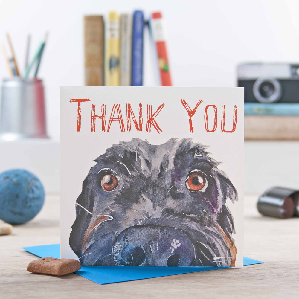 Load image into Gallery viewer, Thank You - Scruffy Black Dog