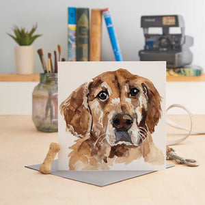 Load image into Gallery viewer, Golden Retriever - Greeting Card