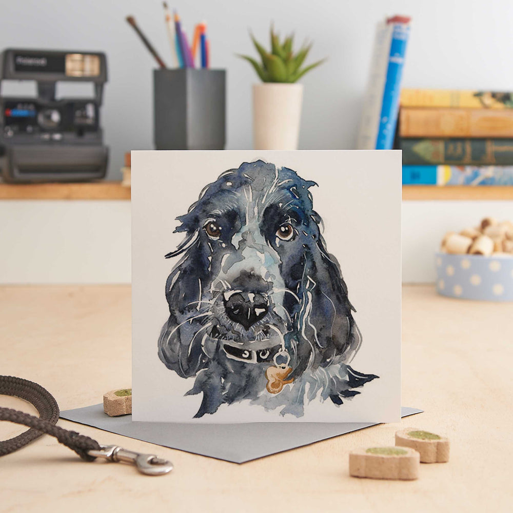 Load image into Gallery viewer, Spaniel - Bertie - Greeting Card