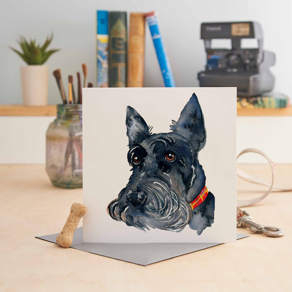 Angus the Scottie Dog- Greeting Card