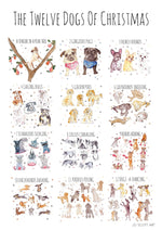 The 12 Dogs of Christmas Giclee Art Print
