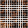 "Brown Mix 3/4"" Mosaic"
