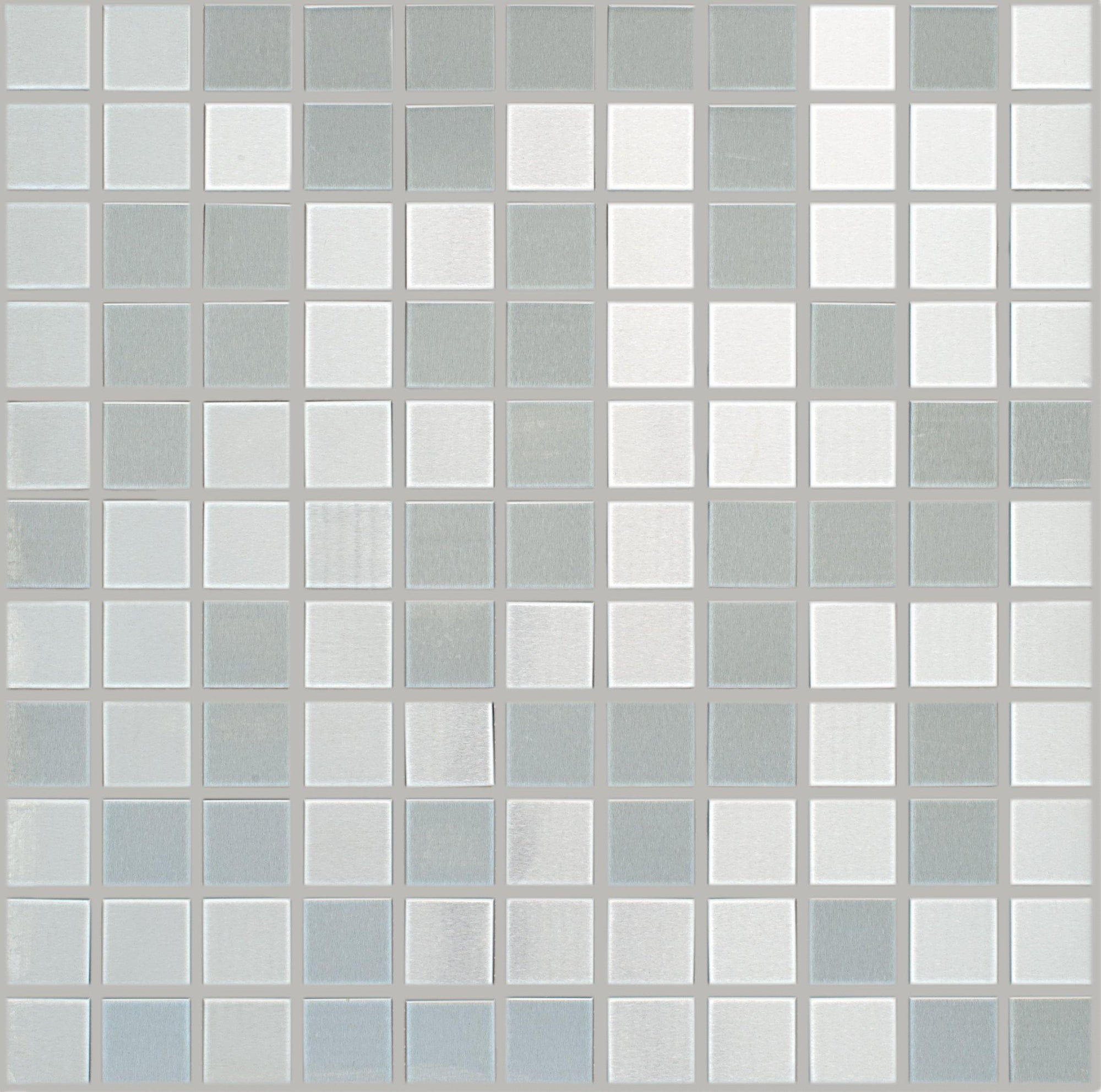 "Brushed Stainless Steel 1"" x 1"" Mosaic"