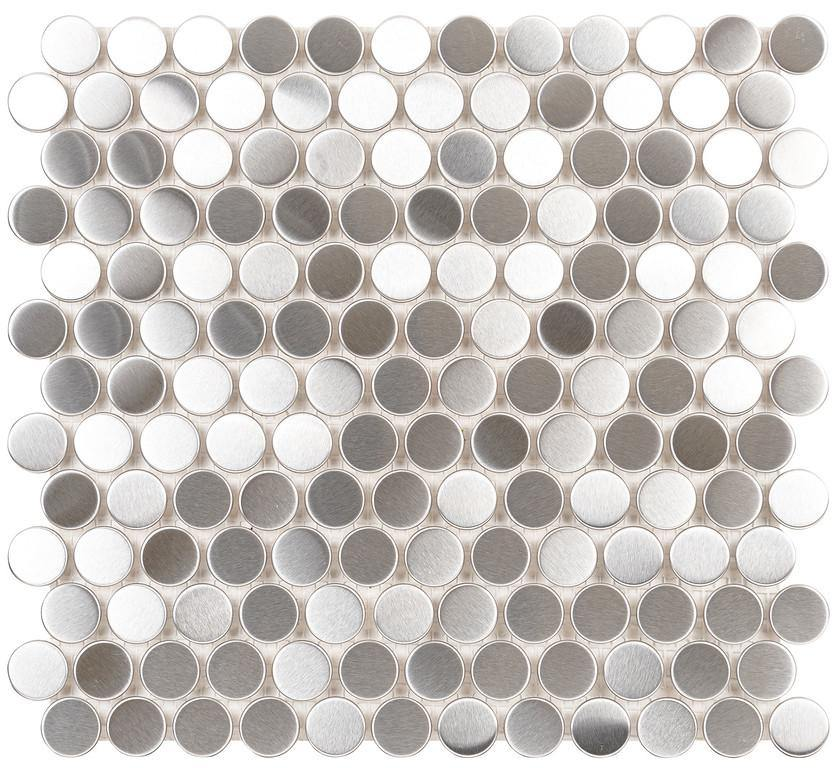 Brushed Stainless Steel Nickels Mosaic
