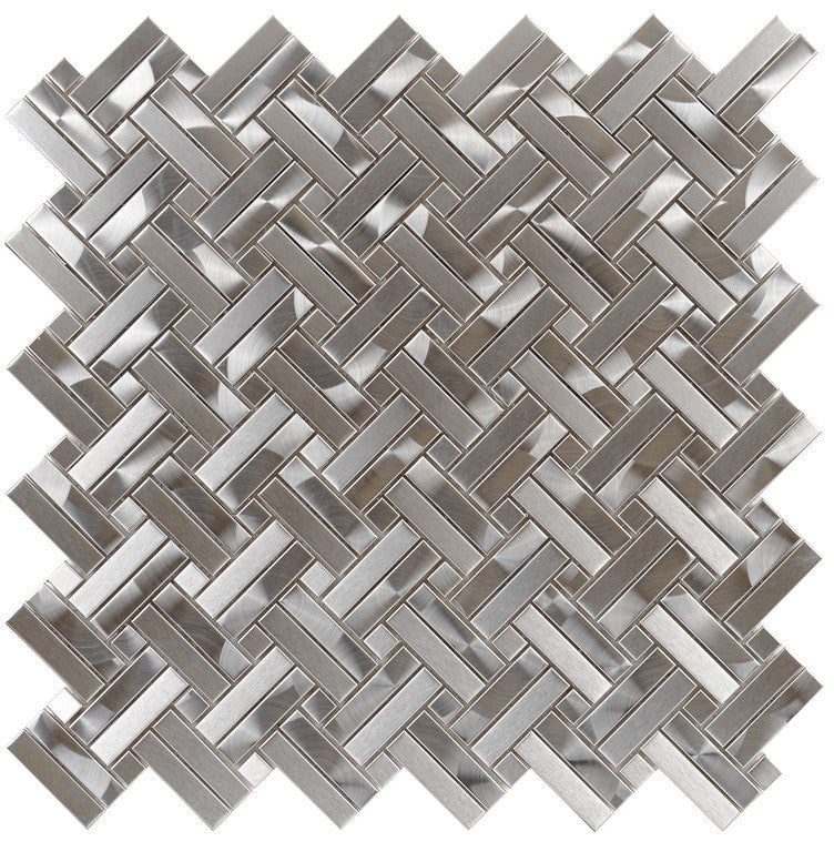 Stainless Steel 2By Basketweave Mosaic