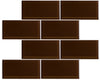 "Hot Cocoa 3"" x 6"" Subway Tile"