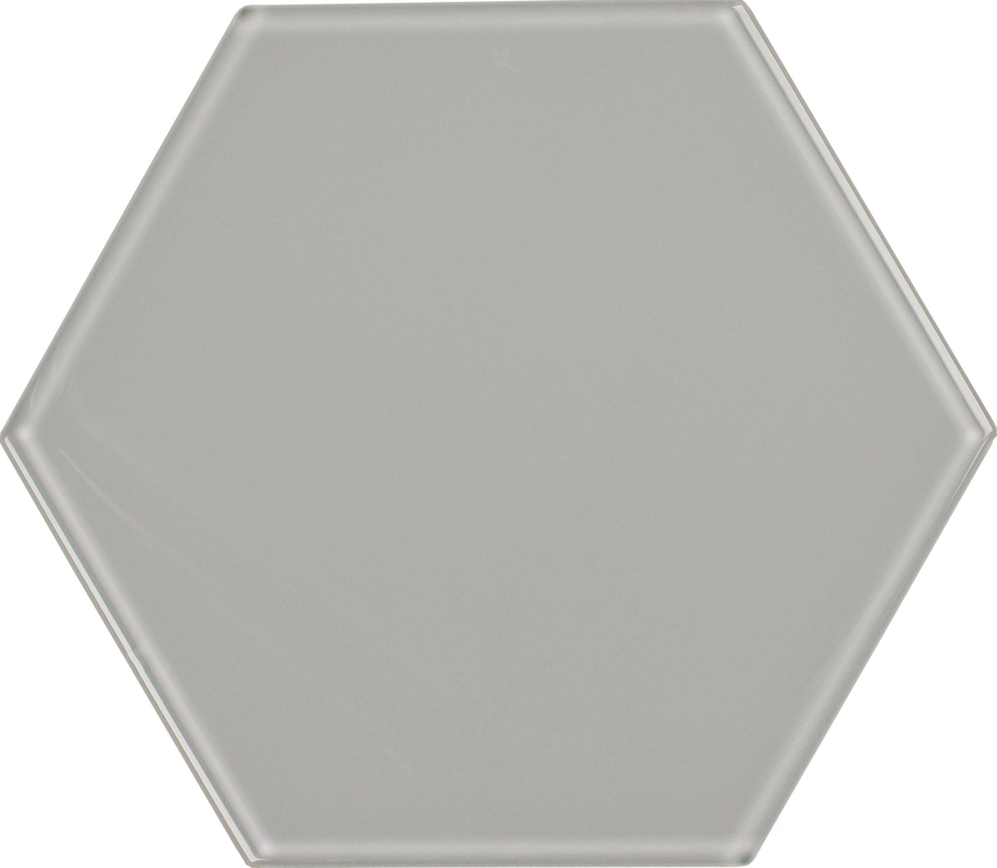 "8"" Whisper Gray Hexagon Tile"