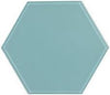 "8"" Sky Blue Hexagon Tile"