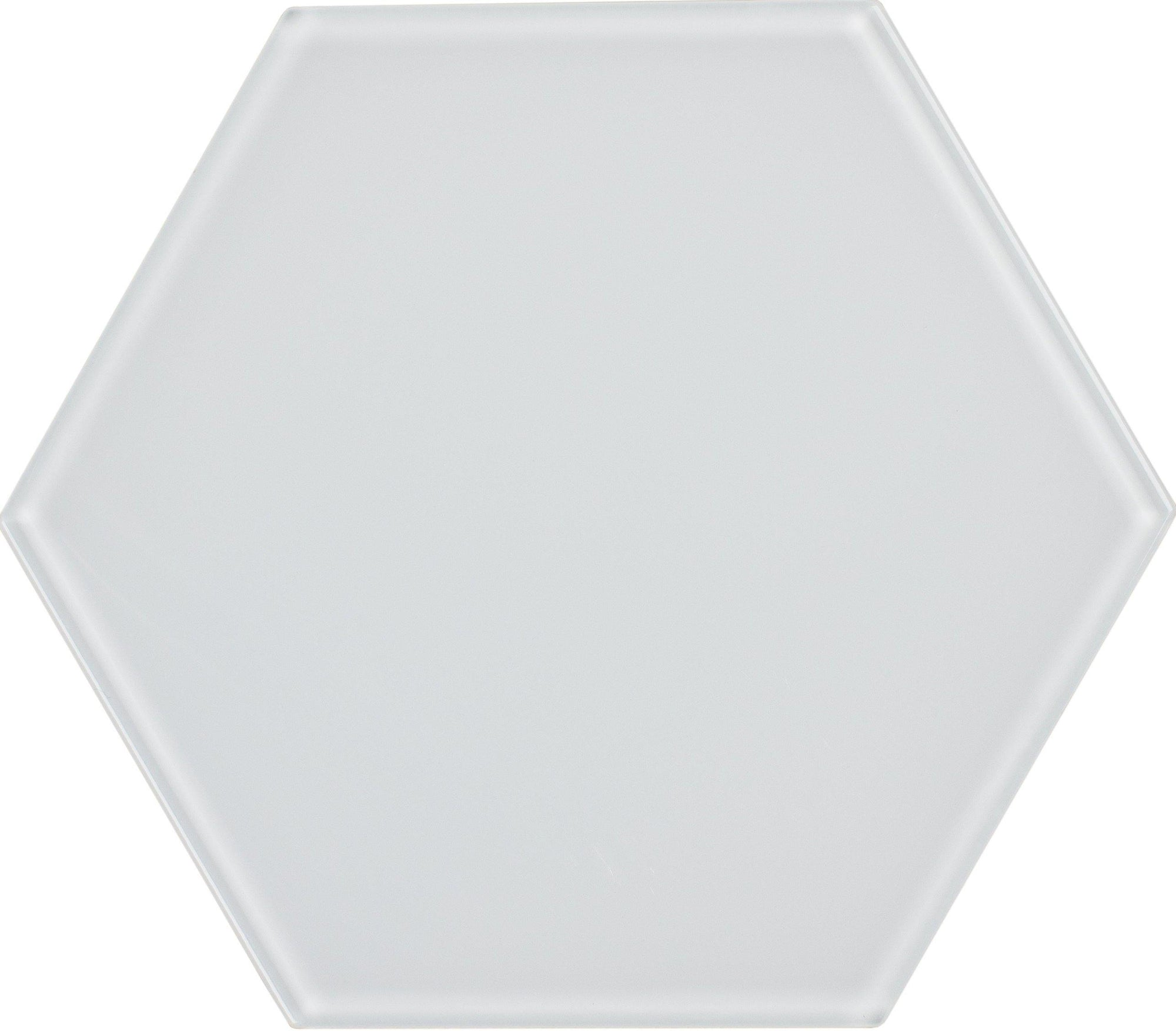 "8"" White Hexagon Tile"