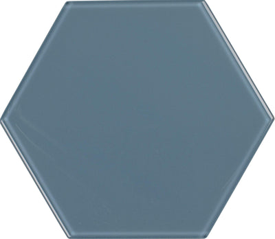 "8"" Downpour Hexagon Tile"