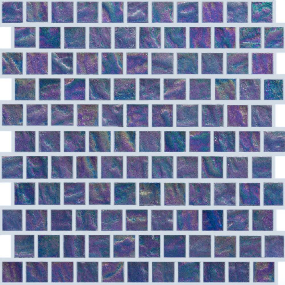 "Blue Martini 1"" x 1"" Offset Mosaic"