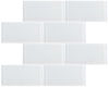 "White 3"" x 6"" Subway Tile"