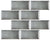 "Charcoal Mist Back-Beveled 3"" x 6"" Subway Tile"