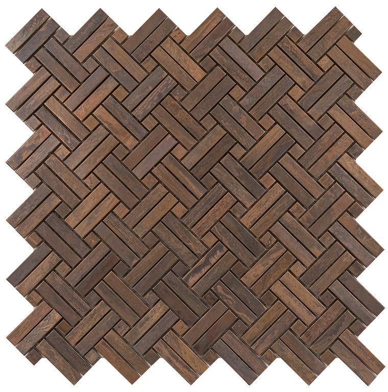 Antique Copper 2By Basketweave Mosaic