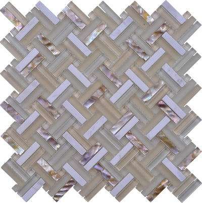 Pearl Beach 2By Basketweave Mosaic