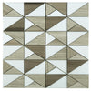 Gray Blend View Point Marble Mosaic