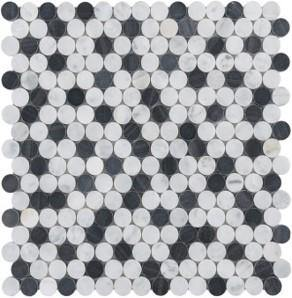 Black n White Button Mosaic