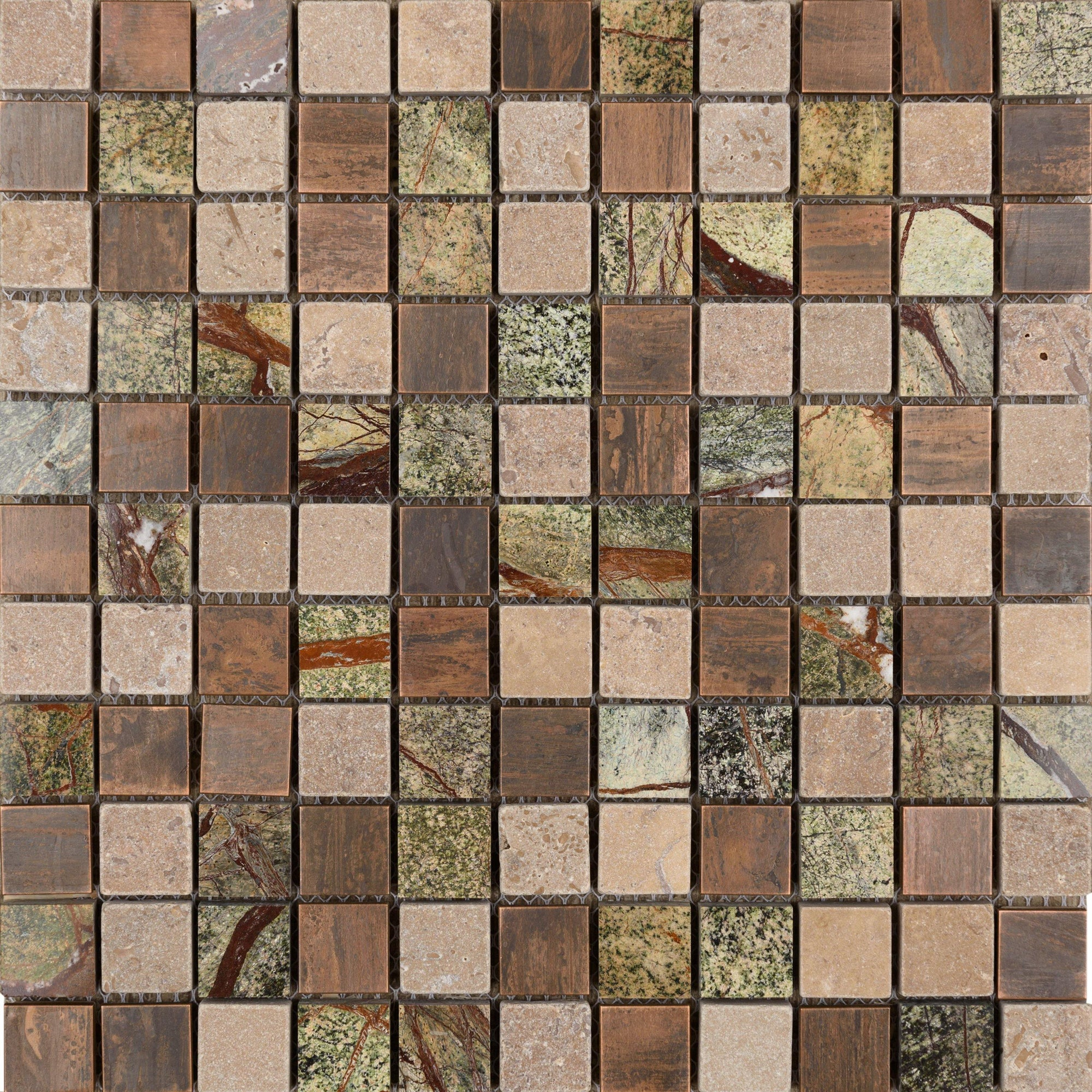 "Copper Amazon 1"" x 1"" Mosaic"