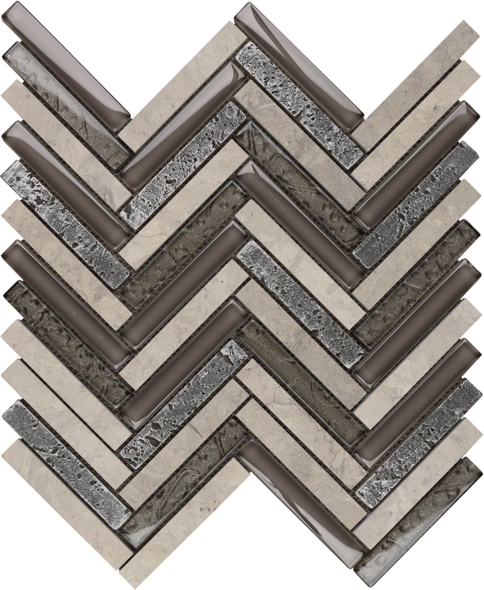 "Blackburn 5/8"" x 4"" Herringbone Mosaic"