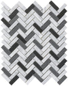 Black n White Herringbone Mosaic