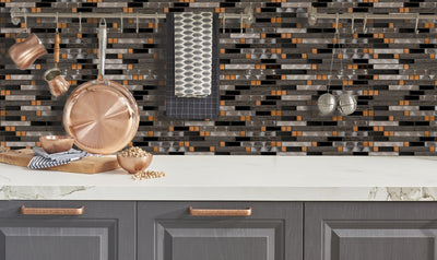 Gold Shimmer Linear Mosaic