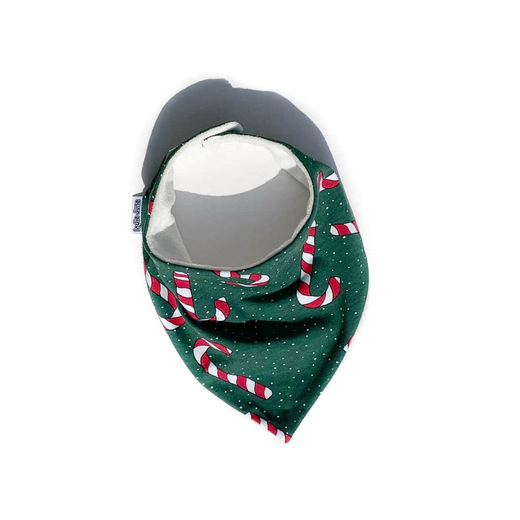 Green Candy Canes Bib
