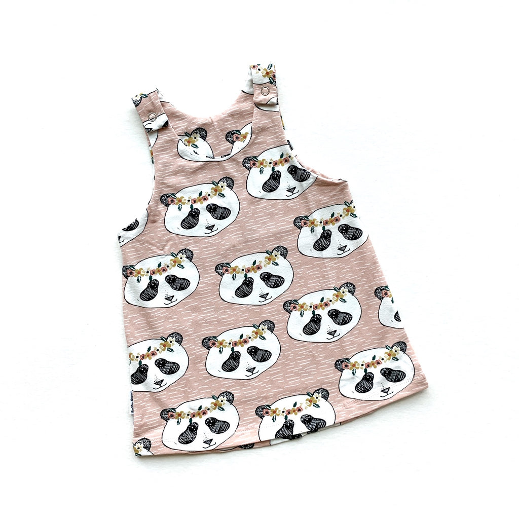 Pink Panda Pinafore Dress