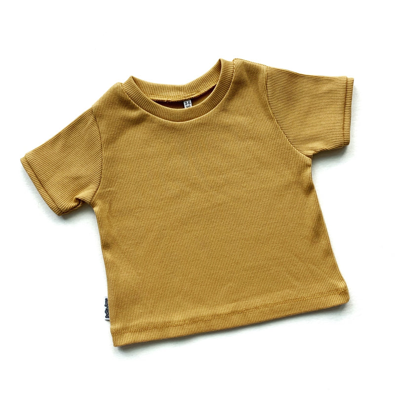 Ribbed T-shirt Mustard