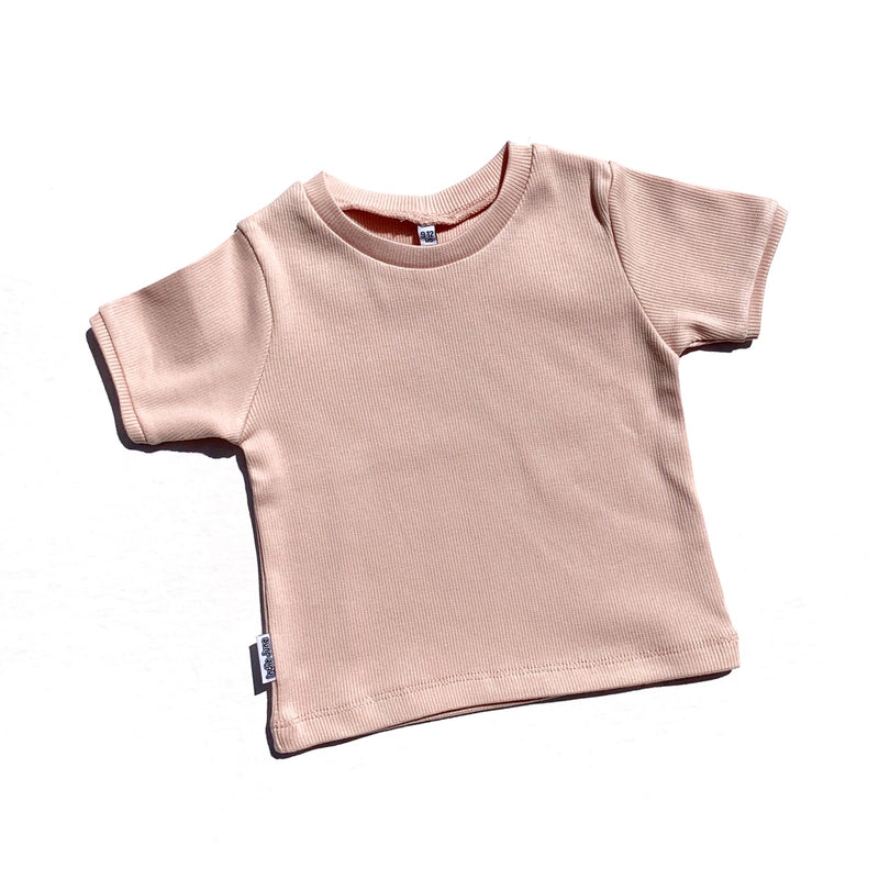Ribbed T-shirt Pink