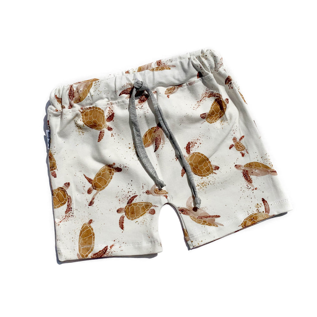 Turtle Drawstring Shorts