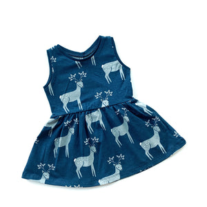 Blue Reindeer Dress