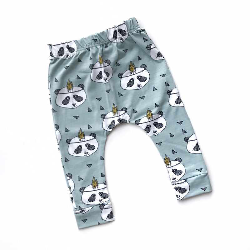 Mint Panda Leggings - Size NB, 0-3m, 3-6m, 6-9m, 9-12m, 12-18m & 18-24m